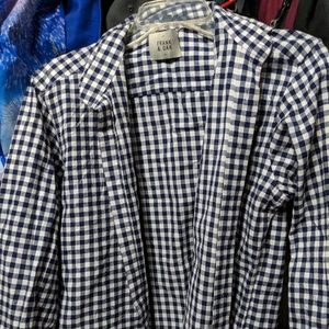 Frank & Oak Blue Checkered Shirt